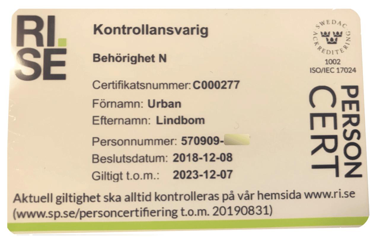 Kontrollansvarig Göteborg
